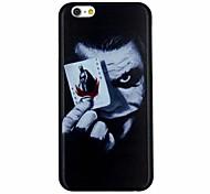 o palhaço com caso de volta duro padrão de poker pc capa para o iPhone 6