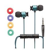 Awei es-t10vi 3,5 millimetri in-ear auricolari con controllo del filo mic 3 accessori per cellulari Samsung