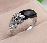elegante Mode schwarzen Stein Aussage Ring