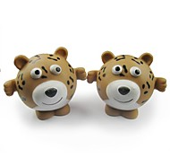 Cheetah Shaped Rubber Ball Squeaking Toy for Pets Dogs Cats
