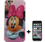 Cartoon Pattern Soft TPU with Screen Protector Case Cover for iPhone 6/6S