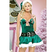 HH1284 TroubleMaker Green Polyester Dress Women's Christmas Costume
