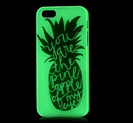 Pineapple Pattern Glow in the Dark Hard Case for iPhone 4/4S