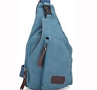 Outdoor Unisex Fashional Blue Canvas Shoulder Bag