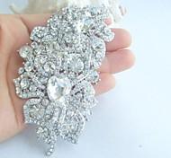 lega alla moda di cristallo strass silver-tone di nozze fiore delle donne spilla da sposa
