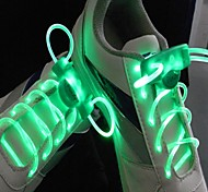Long Bright Flash Slow Flash  Waterproof LED Shoelace Green (1-Pair)