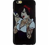 The Girl with Tattoo Talking with Bird Pattern PC Hard Back Cover Case for iPhone 6
