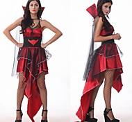 reina de los vampiros de las mujeres de poliéster negro del carnaval del partido costumefor carnaval