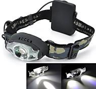 Torce frontali LED 3 Modo 200-230 Lumens Impermeabili / Ricaricabile / Resistente agli urti Cree XR-E Q5 AA