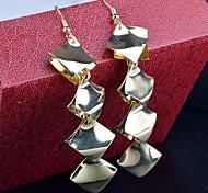 2015 Stylish Retro Diamond Multi-Level Scales Baroque Earring