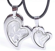 Couple's Fashion Rose Love Pendant Necklace (One Couple)