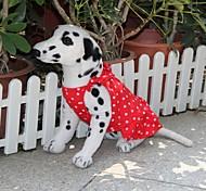 Cães Vestidos Vermelho Verão Bolinhas