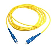 5m 15ft SC to SC Fiber Patch Cord Jumper Cable SM Simplex Single Mode Optic for Network Free Shipping