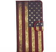 America Pattern PU Leather Full Body Cover with Stand for HTC Desire 610