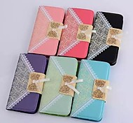 HHMM Bud Silk Can Insert Card PU Leather Cases with Stand  for iPhone 6 plus Case 5.5 inch(Assorted Colors)