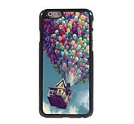 caso difícil balão e casa de design de alumínio para o iphone 6