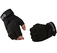 Glove Cycling / Bike All / Men's Fingerless Gloves Keep Warm / Protective / Anti-skidding Spring / Autumn / Winter Black Others - ESDY