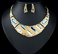 (1 Pc)European (Alloy Diamond) as Picture Alloy Necklace and Earring(Hualuo Jewelry)