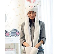 Unisex Long Section  Cute White  Rabbit Frog  Warm Fuzzy Kigurumi Aminal Beanie