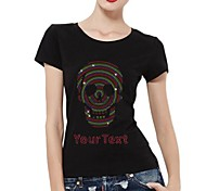Personalized T-shirts Multi Color Skull Pattern Women's Cotton Short Sleeves
