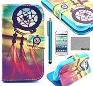 Coco Fun® modelo de nudo chino caja de cuero de la PU con el protector de pantalla y lápiz para Samsung Galaxy Lite tendencia 7390/7392