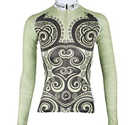 PALADIN Women's Cycling Tops / Jerseys Long Sleeve Bike Spring / Summer / Autumn Breathable / Quick Dry / Wicking Light YellowXS / S / M