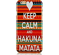 Letters Stitching Color Pattern Hard Back Case for iPhone 6