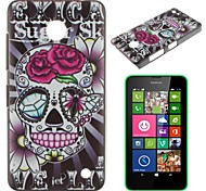 Skull Flowerl Pattern PC Hard Case for Nokia Lumia N630