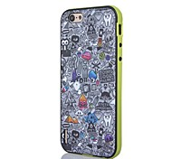 2 in 1 New Style Hybrid Bumper Skin Grey Catoon Pattern Back Case Cover for IPhone6
