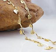 18k золотой кулон листьев позолоченные браслет 20см