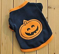 Lovely Pumpkin Fleeces Shirts Clothes for Pet Dogs (Assorted Sizes)