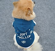 Chilling Snowflake Pattern Hoodie for Dogs (Blue,XS,M,L)