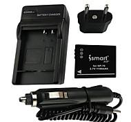 Ismartdigi-Fujifilm FNP-70(1150mAh,3.7V)Camera Battery+EU Plug+Car Charger For F20 40df 47fd 45 40 47/Pan-S005/Ric-DB-60