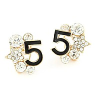 Fashion Boutique Sweet Personality Rhinestones Star Five Words Earrings