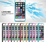 Love Mei Ultrathin Alloy Bumper Curved Edge Metal Case Cover for iPhone 6(Assorted Color)