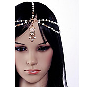 European Pearl Flowers Alloy Headbands