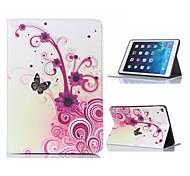 fleur et papillon étui en cuir design avec support pour iPad 2 l'air