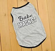 Lovely Babe Magnet Grey Vest for Pet Dogs (Assorted Sizes)