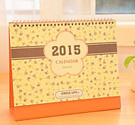 2015 Orange Floral Calendar