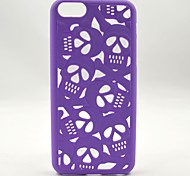3D Hollow Relief Cool Skulls Mobile Phone Case for iPhone 5C (Assorted Colors)