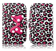 Attractive Leopard Print Pattern PU Leather Full Body Case with Stand for Samsung Galaxy Trend Duos