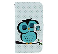 Sleeping Owl Pattern PU Leather Full Body Case with Card Slot and Stand for Motorola X+1