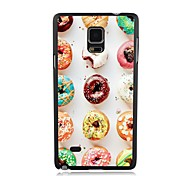 elonbo donas encantadoras cubierta trasera del caso plástico duro para Samsung Galaxy Note 4