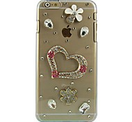 Love Design Pattern Transparent PC Hard Case for iPhone 6