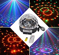 18W RGB LED MP3 Stage DJ Disco Club Pub Party Crystal Magic Ball Light EU(AC100-240V)