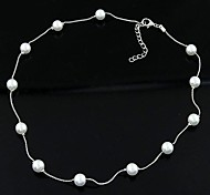 Korean Fashion Personality Ladies Wild Pearl Necklace