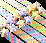 Double Color Clover Pattern Lucky Star Origami Materials(20 Pages/Package Random Color)