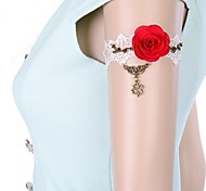 Fashion Sweet Clover Lace Red Rose Armlet