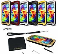 mei amo impermeável de alumínio à prova de choque caixa de metal gorila para Samsung Galaxy i9600 S5 (cores sortidas)