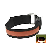 LED Light Arm Band Strap Armband Orange  (2xCR2032)